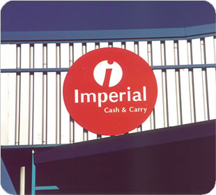 Imperial Cash and Carry Sign